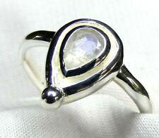 Mondstein Ring 925 Silber Gr. 17,8 (56) teilweise mattiert fac. Stein UNIKAT NEU