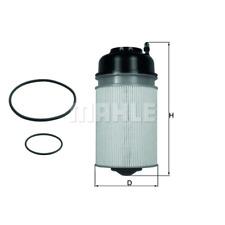 Filtro de combustible-Mahle KX 406D