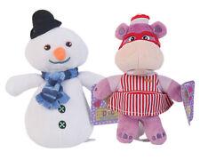"Disney Doc McStuffins 8"" Snowman and 8'' Hallie Hippo Plush Doll"