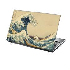"TaylorHe Laptop Skin 13-14"" Vinyl Sticker Decal Great Waves of Kanagawa Classic"