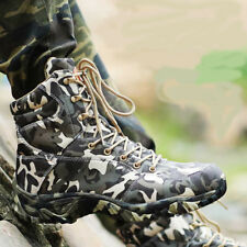 Men's Outdoor Camo SWAT Military Tactical Boots Waterproof Hiking Climbing Shoes