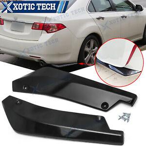 For Acura TSX TLX ILX MDX RDX Rear Bumper Diffuser Splitter Canard Gloss Black