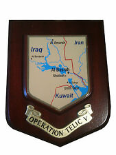 Operation Telic V 5 Iraq Military Shield Wall Plaque