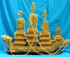 """Huge 60"""" 1.5 Meter Yellow Jade Dragon Boat (BY150) - Only One"""