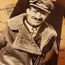 Fighter Ace Adolf Galland - Knight's Cross of Iron Cross (Diamonds) Doc + Photo