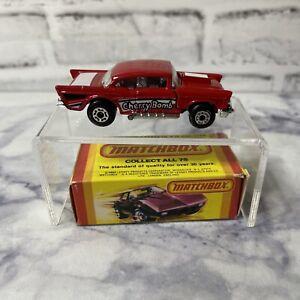 Matchbox 1957 Chevy Cherry Bomb #4 1979 NEW in Original Box England Vintage