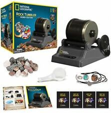 National Geographic Hobby Rock Tumbler Kit Jewelry Fastenings Educational Guide
