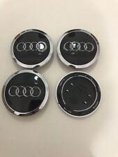 Set 4 coppette Tappi Coprimozzo Audi 69 mm Neri per cerchi in lega