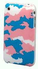 for iphone 3g 3gs case burgundy white orange pink sunrise sky cloud camouflage