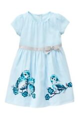 GYMBOREE BUTTERFLY GARDEN Dress 18-24 M Special Occasion Dressy Owl Blue Nwt