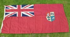More details for large antique 1910-1912 original south africa merchant flag red very rare