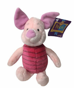 """Gund Wind Up Musical Sound Piglet Plush 8"""" Winnie Pooh Song 100 Acre Collection"""