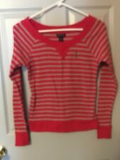 US Polo Assn Sz S pink sriped top