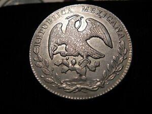 1877-Ga JA .903 Silver  Mexico 8 Reales Silver Coin