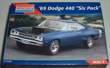 1969 Dodge Coronet SUPER BEE w 440 Six Pack Blue Metallic Plastic Model New 1995