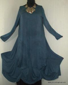 Conjuring Rebecca Floeter ARt to Wear Shibori Long Minoan Dress OS B54 Lagenlook