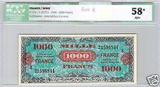 FRANCIA 1000 FRANCHI FRANCIA 1945 SERIE 3 N° 21596844 ICG 58 AU+
