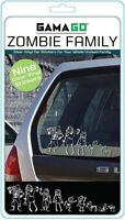 NEW Zombie Family Vinyl Clear Stickers Car Pack Of 9 Gama Go Fun Decals Gift