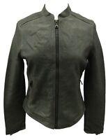 Coach Leather Jacket Women's Motorcycle KRA Racer Slate Gray, Small 82389 $1198