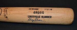 Greg Gross Professional Model Louisville Slugger Game Used Bat PSA/DNA Signed