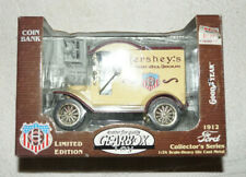 Diecast Metal delivery truck bank - Hershey's 1912 Ford (1996) 1:24 Gearbox MIB