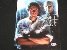 CLIVE BARKER & DOUG BRADLEY Signed Hellraiser Pinhead 8x10 Photo Beckett BAS COA
