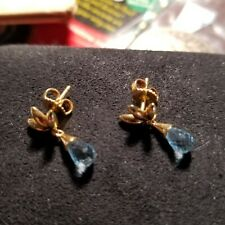 Tiffany & Co 18k Yellow Gold 1.60ctw Aquamarine Drop Earrings