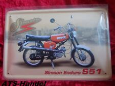 Blechschild Simson Enduro S51 20 x 30 cm