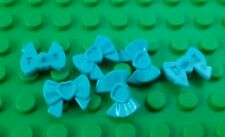 *NEW* Lego Aqua Blue Head Bows Friends Minifigs Figures Figs - 6 pieces