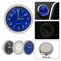 Luminous Car Motorcycle Bike Clock Small Stick-On Panel Meter Quartz Watch Clock