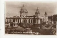City Hall & Garden Of Remembrance Belfast Vintage RP Postcard 308a
