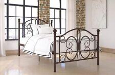 BOMBAY PLATFORM BED Twin bed frame, Bronze.