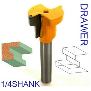 """1 pc 1/4"""" Shank  Drawer Lock Joint Making Router Bit S"""
