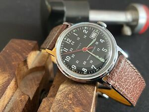 Popular vintage military type date watch TIMEX SPRITE GB 1973 M25 SERVICED