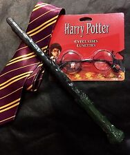 Harry Potter Christmas xmas Gift idea Costume Kit- Wand, Glasses and school Tie