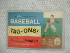 1960 Pittsburgh Pirates Plastic Tag-Ons Package and Stickers Tag-Outs  Complete