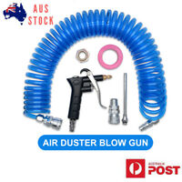 Air Blower Blow Spray Gun + 9m Recoil Hose Truck Lorry Dust Blower Clean Nozzle