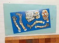 VINTAGE 70S JAPAN YOKAI MONSTER DIE-CUT CARDBOARD TOY FIGURE THIRD-EYE  SKELETON