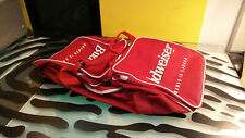 "Budweiser Duffle Bag Red ""Brewed In Canada Good Condition Sempre"