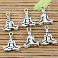 12pcs tibetan silver color Yoga trainer charms EF2242