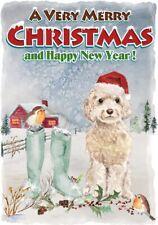 "Cockapoo Dog A6 (4"" x 6"") Christmas Card - Blank inside - Designed by Starprint"