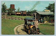 Postcard TX Dallas Fort Worth Six Flags Over Texas Chaparral Antique Car Ride X1