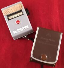 Vintage Exposure Light Meter for Polaroid Cameras Made in Japan w/ Leather Case