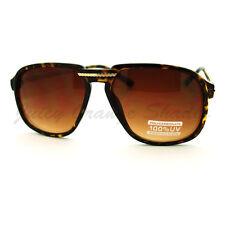 Unisex Retro Sunglasses Oversized Square Arched Aviators Tortoise Brown