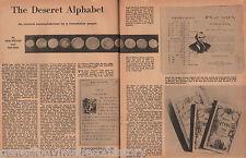 Rare Mormon Deseret Alphabet &Coins-Campbell,Kimball,Messenger,Watt,Weller,Young