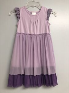 Hanna Andersson 130 Dress Purple Tulle Layer Ruffle Party Everyday Lavender