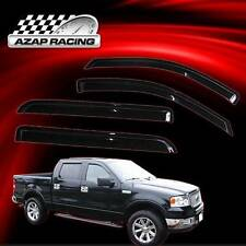 04-08 Smoke Sun Window Visor Rain Guard Vent 4Pcs For Ford F-150 Super Crew Cab