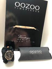 OOZOO Damen Uhr Vintage C9819 Rosegold/Schwarz - 34mm - Leder - NEU OVP