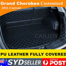 PU Leather Car Rear Trunk Boot Liner Protector Cargo Mat JEEP Grand Cherokee