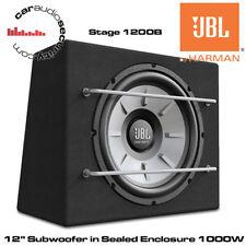 "JBL STAGE 1200B - 12"" Car Audio Subwoofer 1000W with Original JBL Enclosure Box"